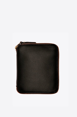 Classic Leather Zip-Around Wallet-brown