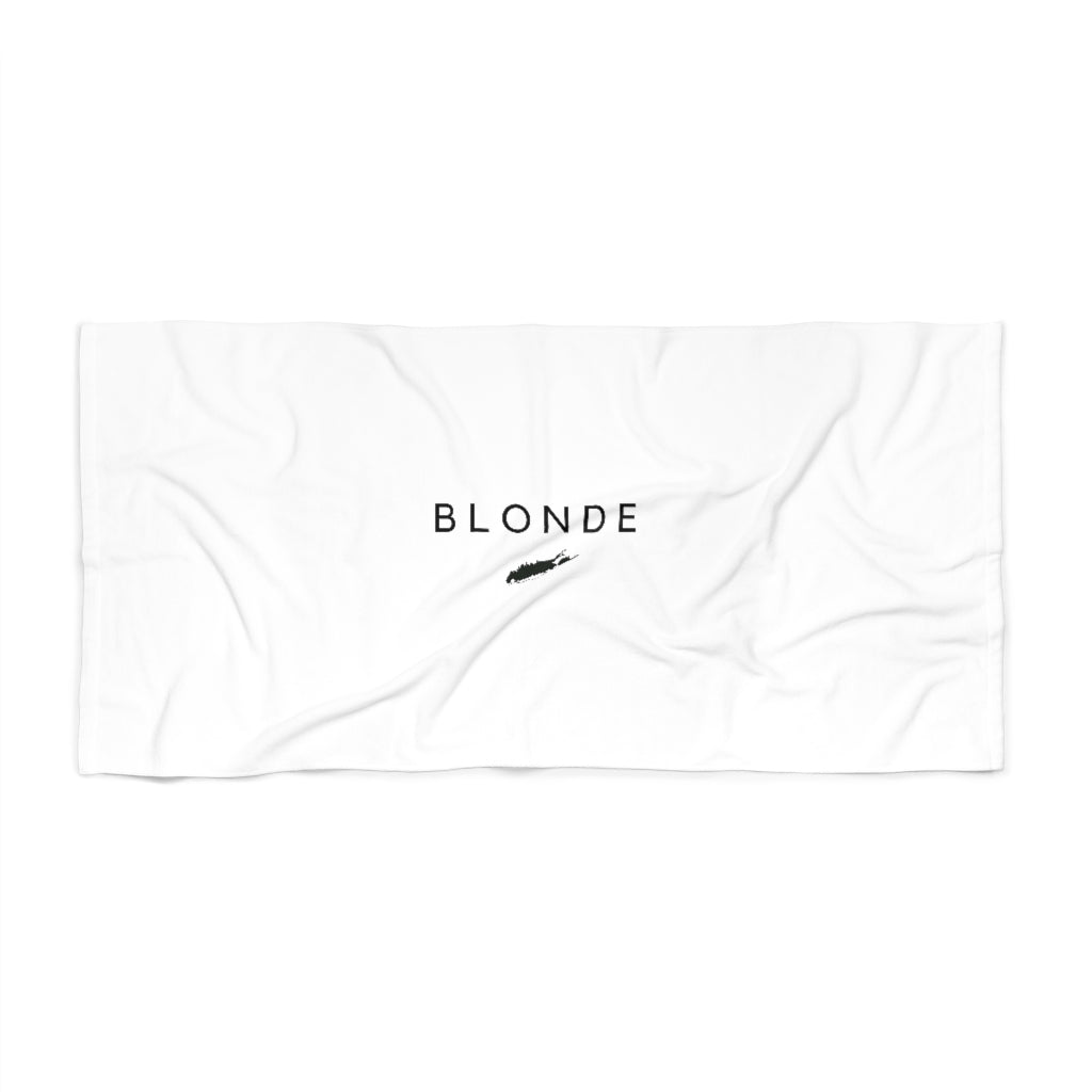 Long Island Blonde Beach Towel