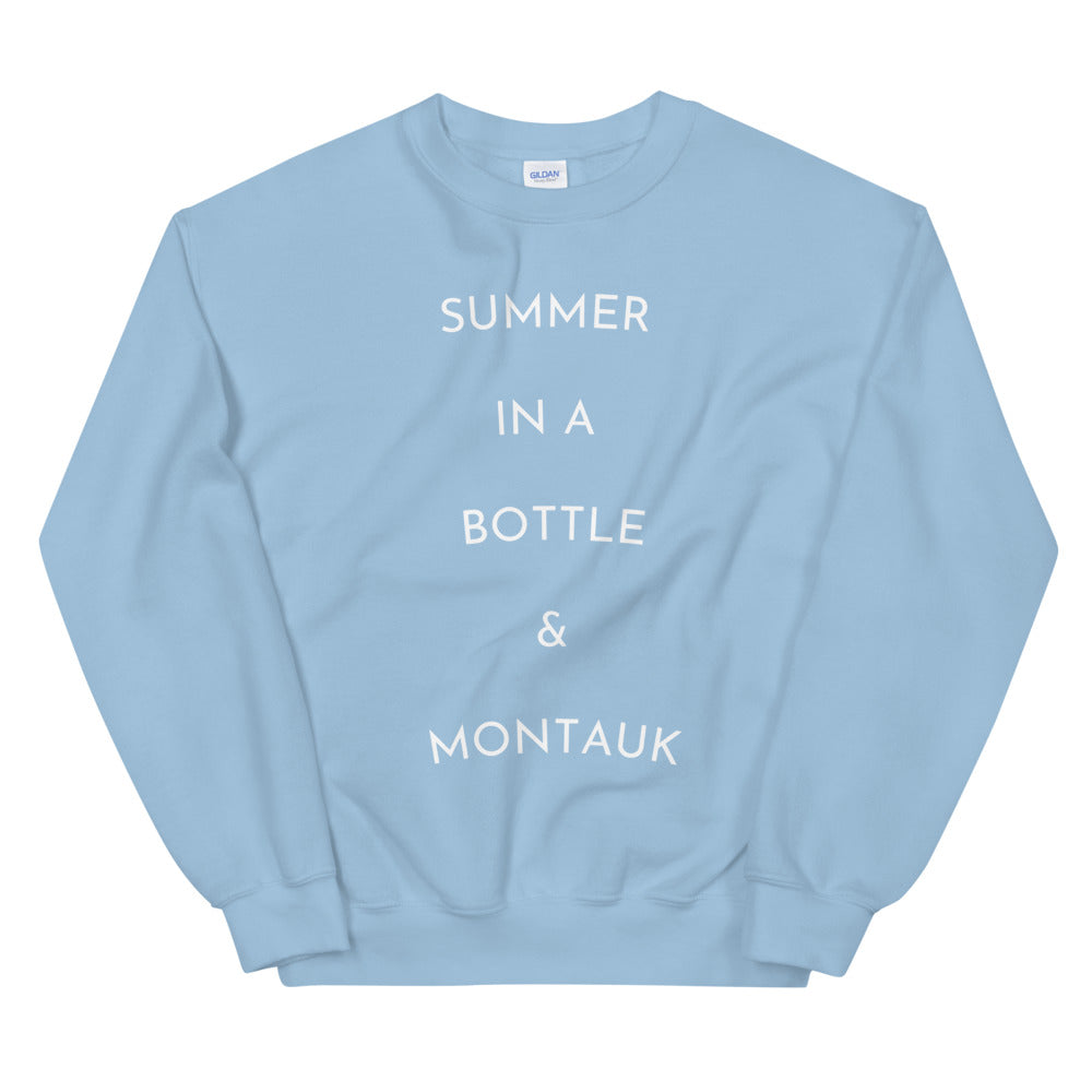 Summer in a bottle & Montauk Sweatshirt