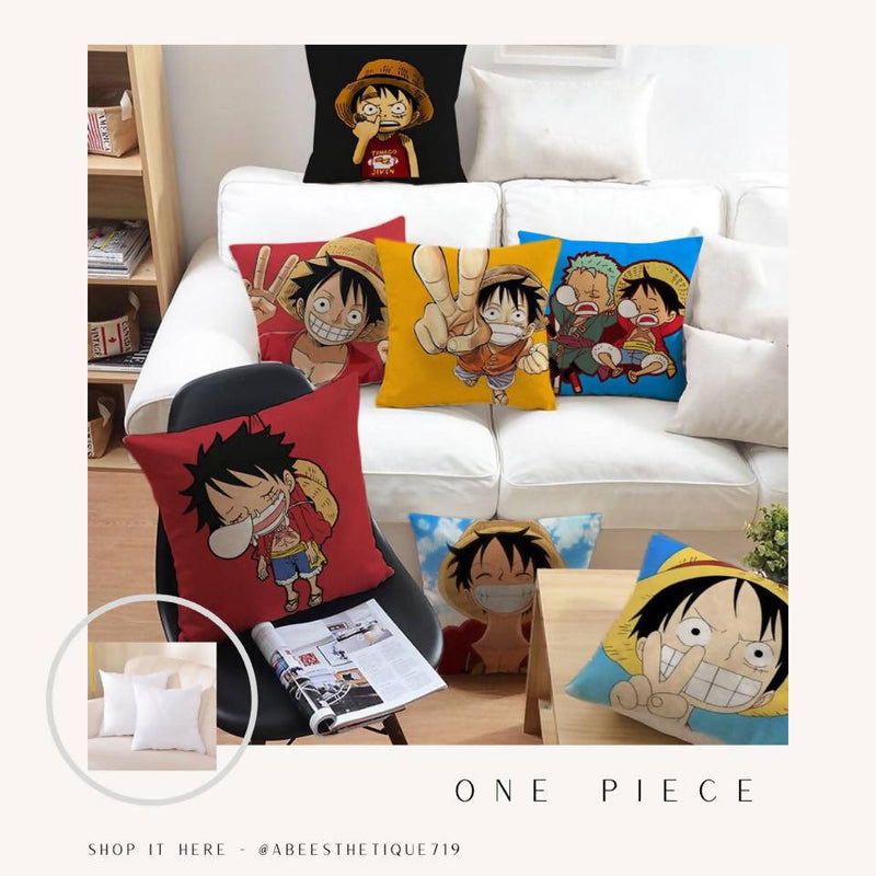 One Piece Anime Printed Pillow Cover | Abeesthetique