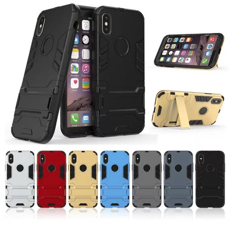 iPhone 6 6s 7 8 Plus X 5 5s SE Stand Hard Case Casing Cover - Use Code: Less10%