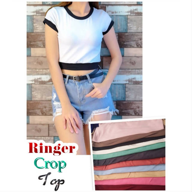 AOB: Ringer Crop Top