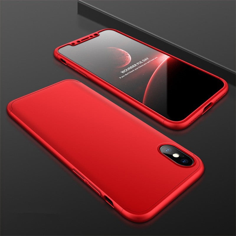 iPhone XS XR XS Max Full Cover Hard Case 3 in 1 Matte Protection Back Casing
