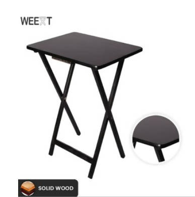 Weext Wooden Folding Table | W49 L37 H68 in CM