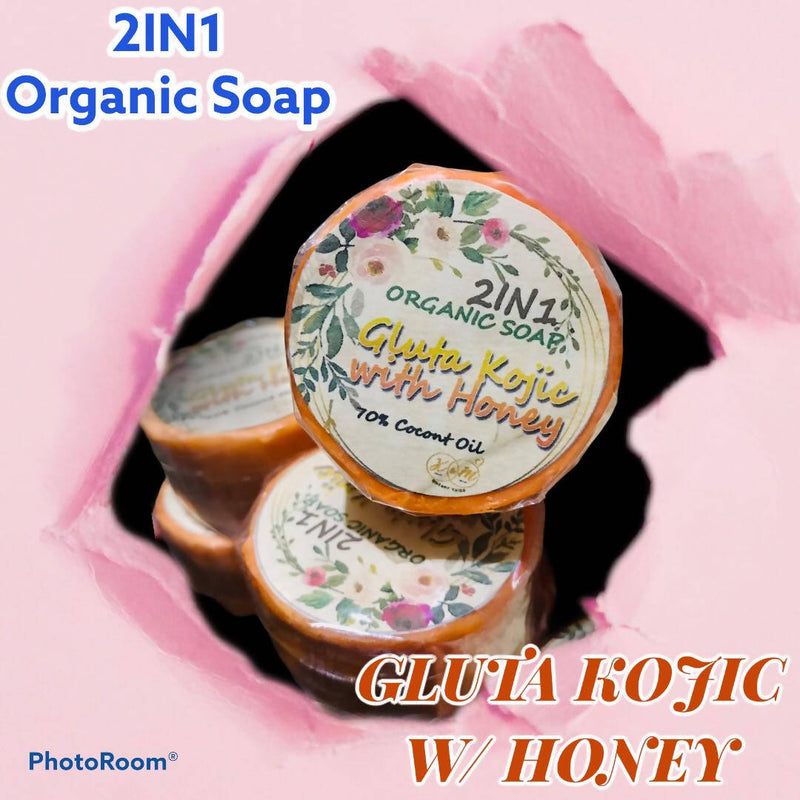 KMOS 2IN1 ORGANIC SOAP GLUTA KOJIC WITH HONEY