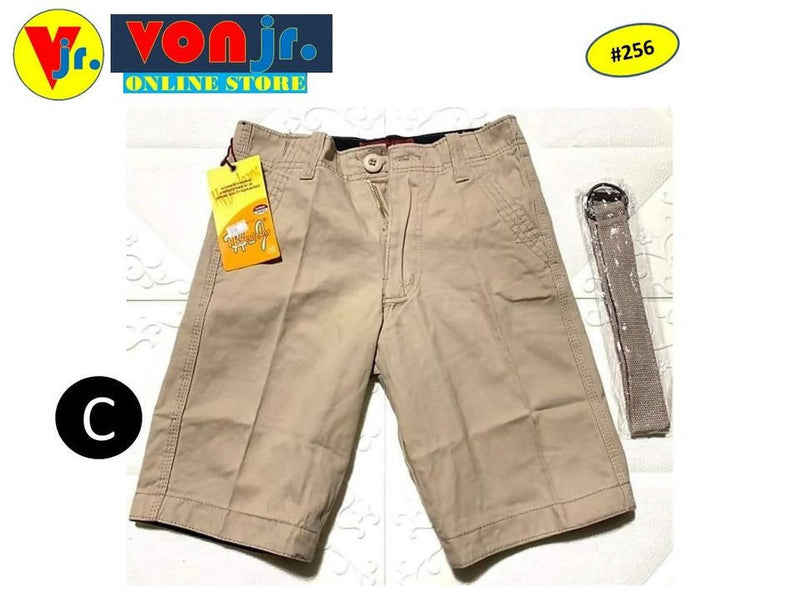 PLAIN 4 POCKET SHORT WITH BELT FOR KIDS TO TEENS