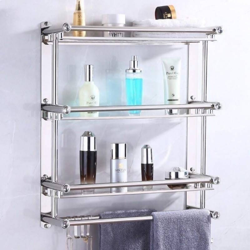 Stainless bathroom rack/ wall mounted bathroom rack