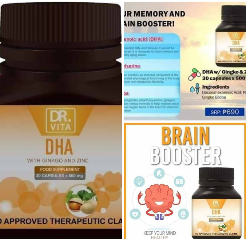 DR. VITA DHA WITH GINKO AND ZINC good for the brain (ELDERLY)