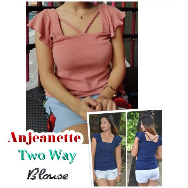 AOB: Anjeanette Two Way Blouse