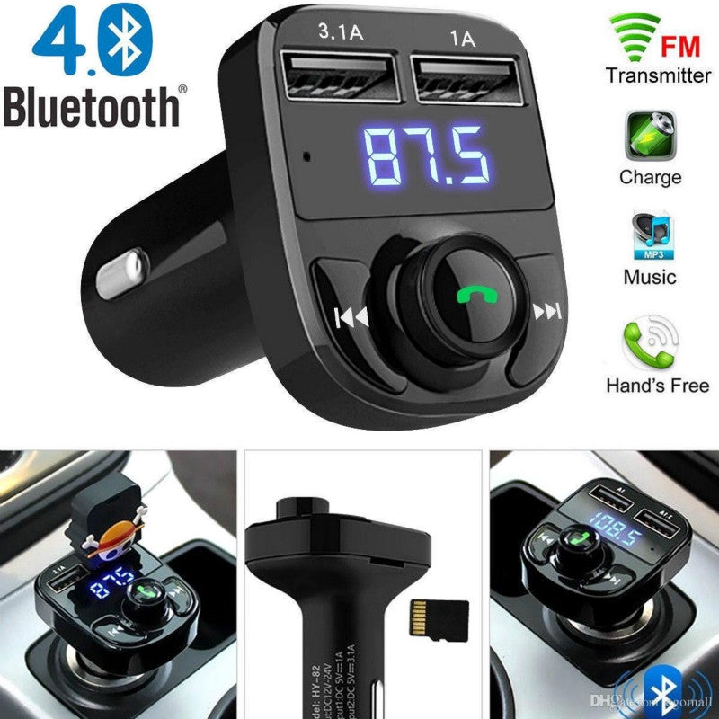 Dual USB Car Charger FM Transmitter Aux Modulator Bluetooth Handsfree Car Kit Car Audio MP3 Player