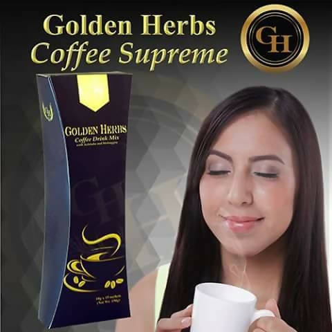 GOLDEN HERBS COFFEE with Ashitaba and Malunggay 12s