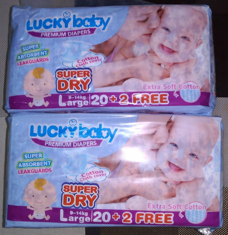 Lucky baby Premium Diaper LARGE 20+2 pcs