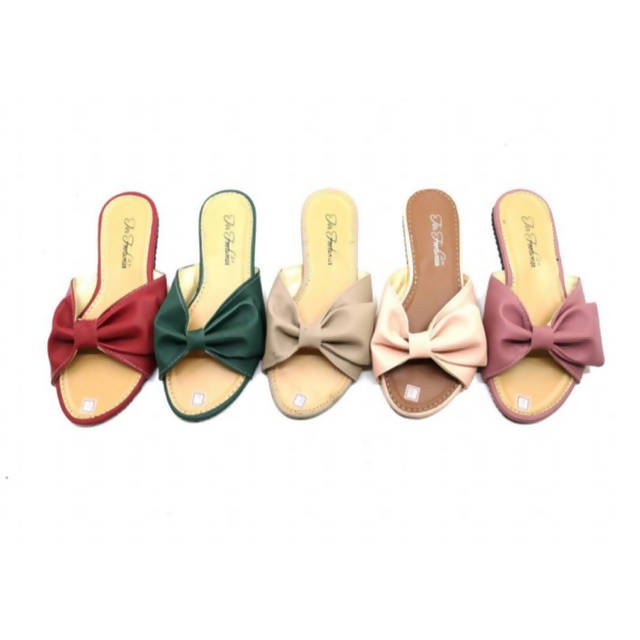 Side Ribbon Side Patch Sandals