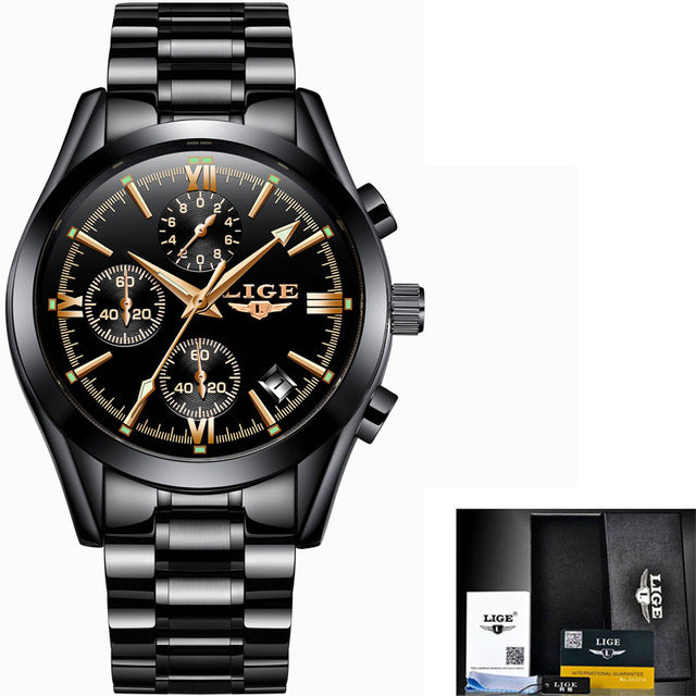 Luxury Fashion  Full Steel Military Sport Watch