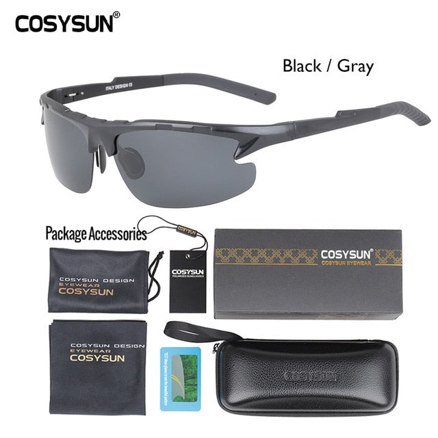Polarized Sunglasses aluminum-magnesium alloy - Use Code: Less35%