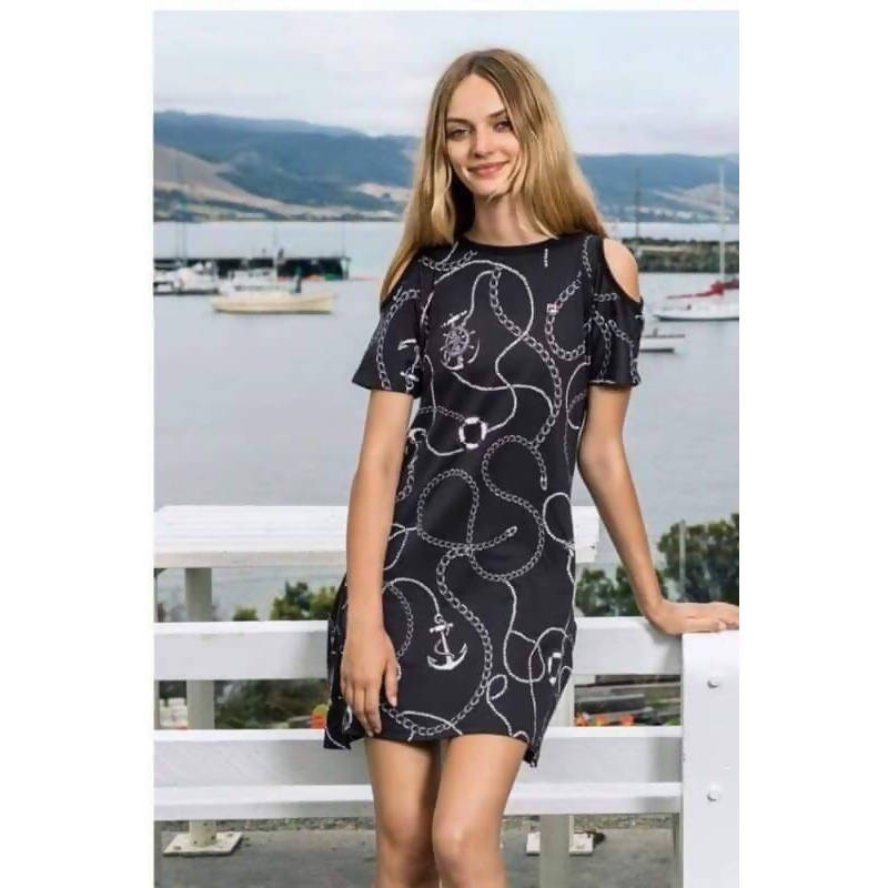 Anchor Print T-shirt dress/ drezs