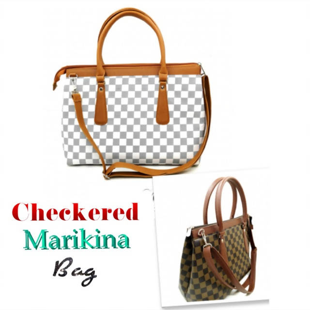 Chekered Marikina Bag