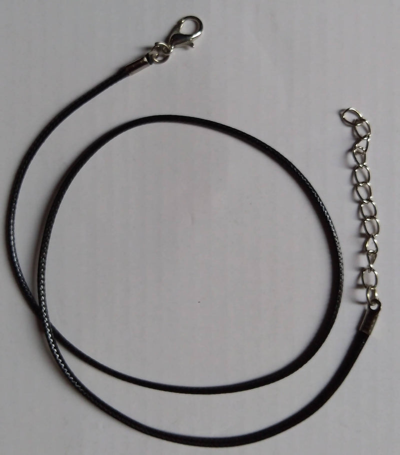 Fashion Black Faux Leather Cord Choker