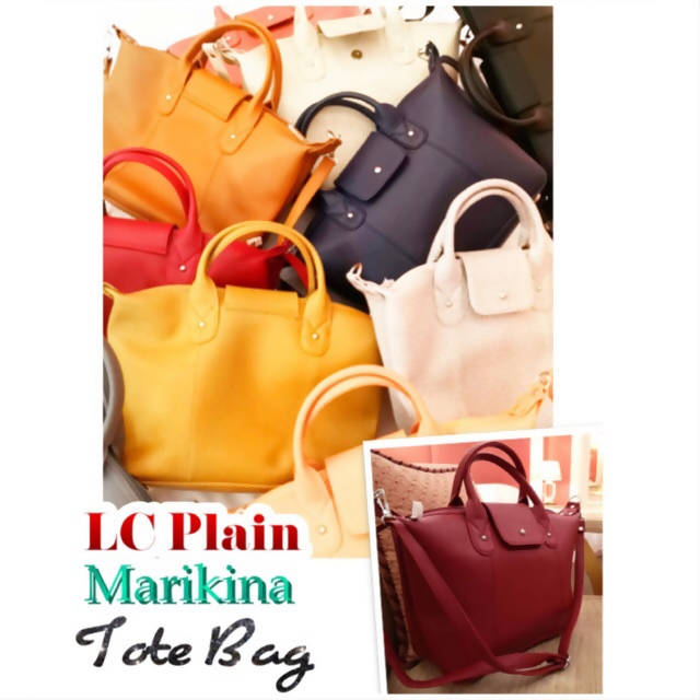 AOB: LC Plain Marikina Tote Bag High Quality