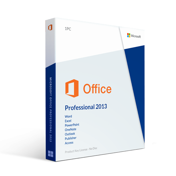 Microsoft Office Professional Plus 2013 License For 2 Pc