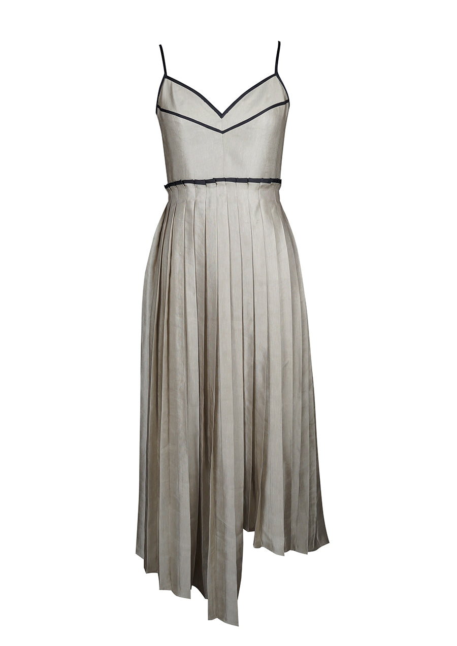 BIRDWALK PLEATED DRESS