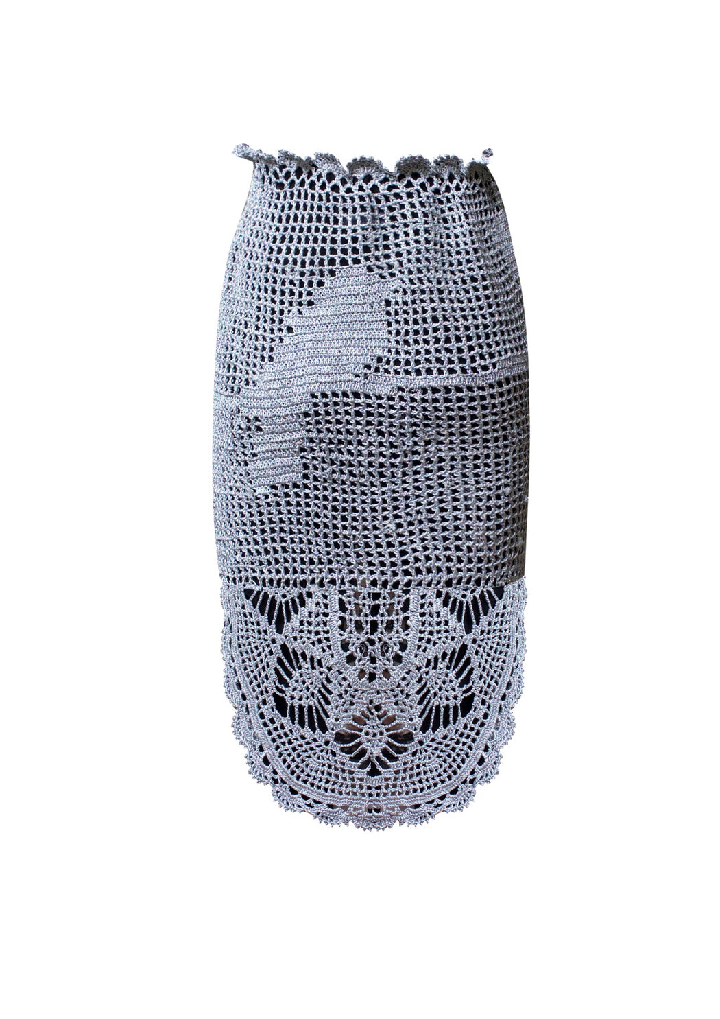 BIRDWALK CROCHET PENCIL SKIRT