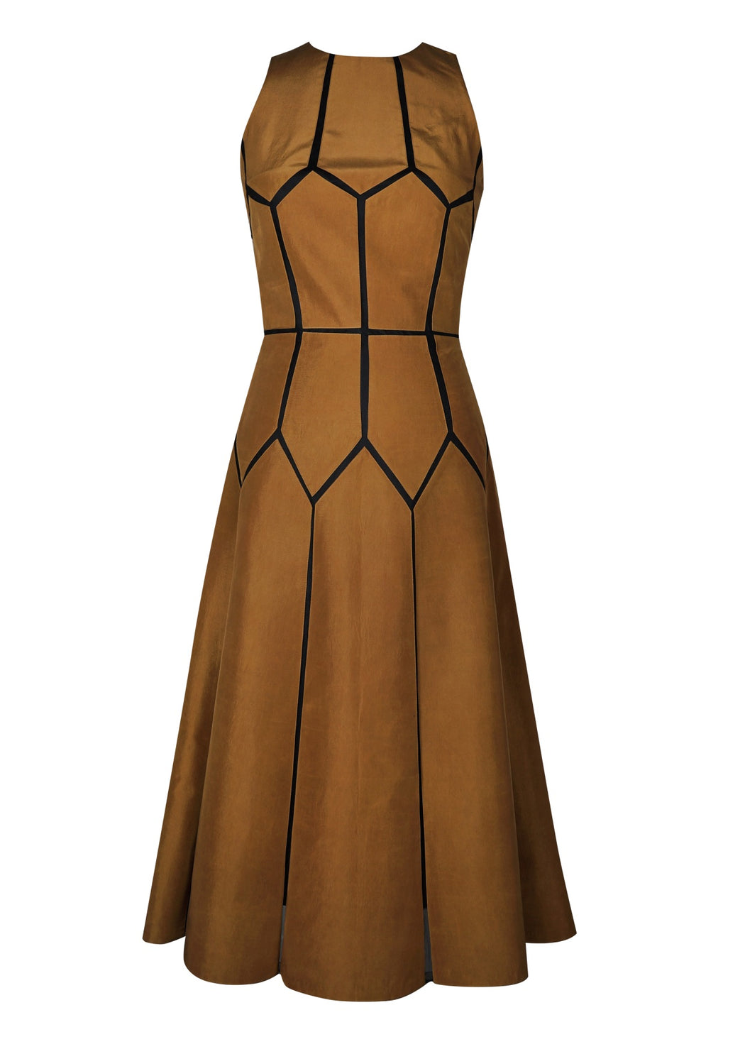 BIRDWALK SILK PATCH GEOMETRIC DRESS