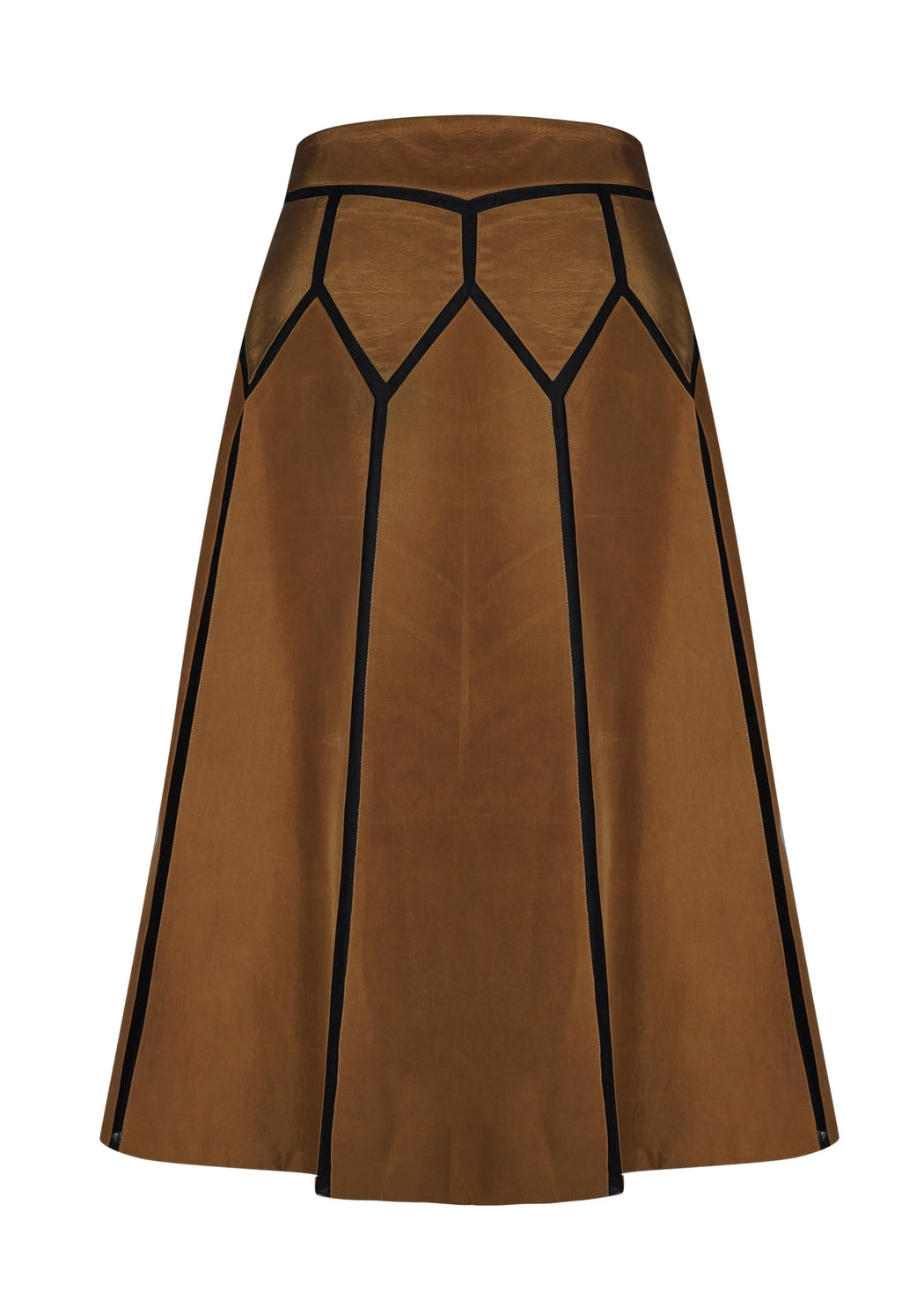 BIRDWALK SILK MUSTARD SKIRT