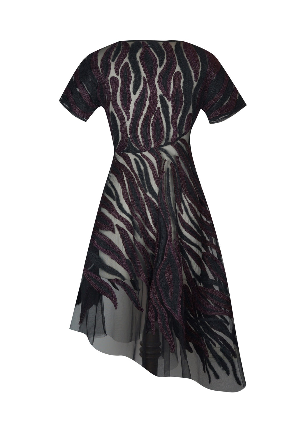 BIRDWALK HAND EMBROIDERED ASYMMETRIC DRESS