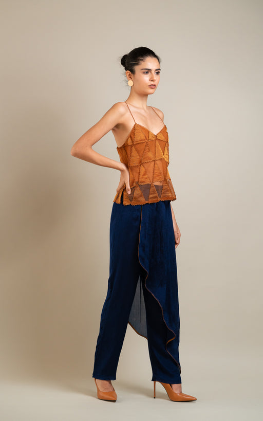 BIRDWALK  DRAPED TROUSER