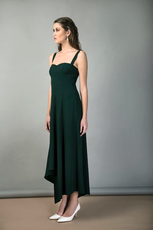 BIRDWALK PLEATED PANEL DRESS