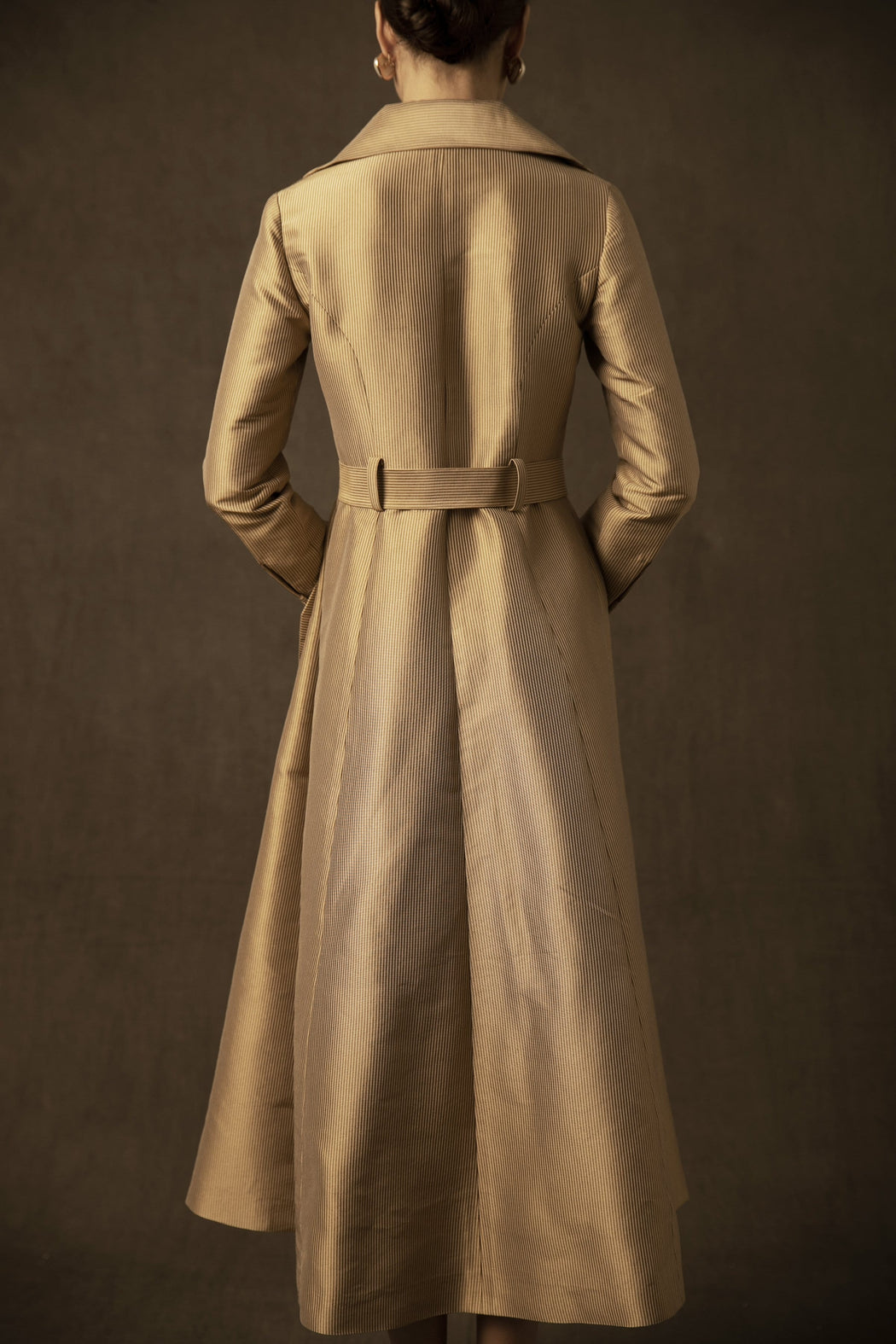 BIRDWALK GOLD TRENCH COAT