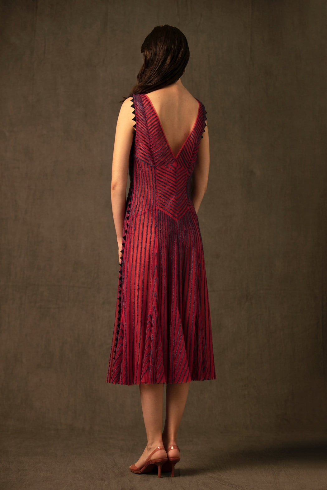 BIRDWALK STRIPED  NET   DRESS