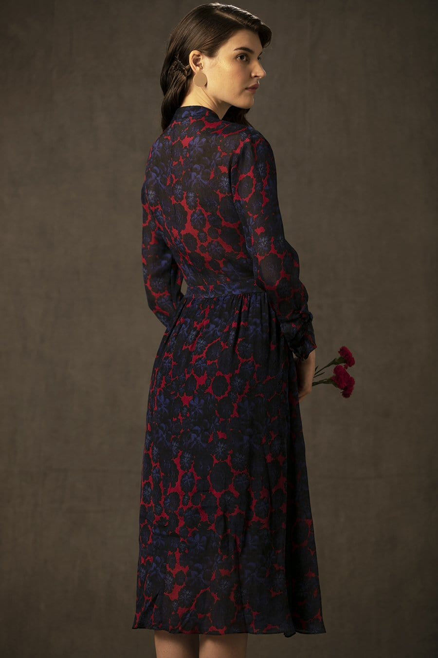 BIRDWALK CHIFFON FLORAL SHIRT DRESS