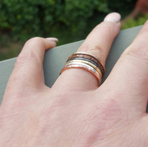 Set of 6 Mixed Metals Stacking Rings