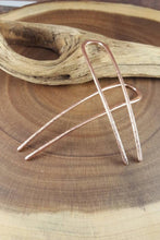"Load image into Gallery viewer, Copper Hair Pins, 4"" or 5"" Metal Bun Pin, Hammered Copper Hair Jewelry,"