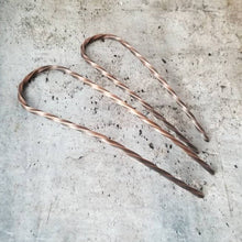 "Load image into Gallery viewer, Sturdy Strong Copper Hair Pin, 4"" or 5"" Metal Bun Pin, Copper Hair Jewelry,  Hair Arch"
