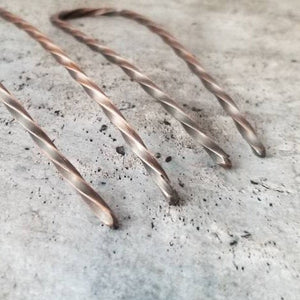 "Sturdy Strong Copper Hair Pin, 4"" or 5"" Metal Bun Pin, Copper Hair Jewelry,  Hair Arch"