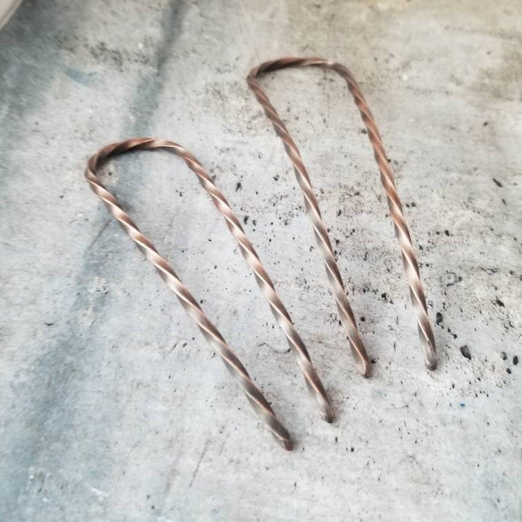 Sturdy Strong Copper Hair Pin, 4