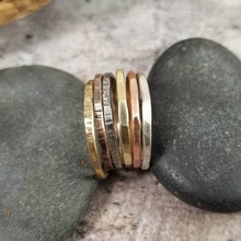 Load image into Gallery viewer, Set of 6 Mixed Metals Stacking Rings