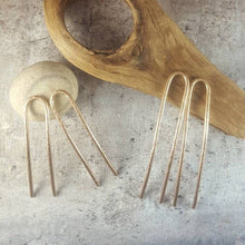 Load image into Gallery viewer, Set of 2 Hammered Metal French Hair Pins - Most Popular!