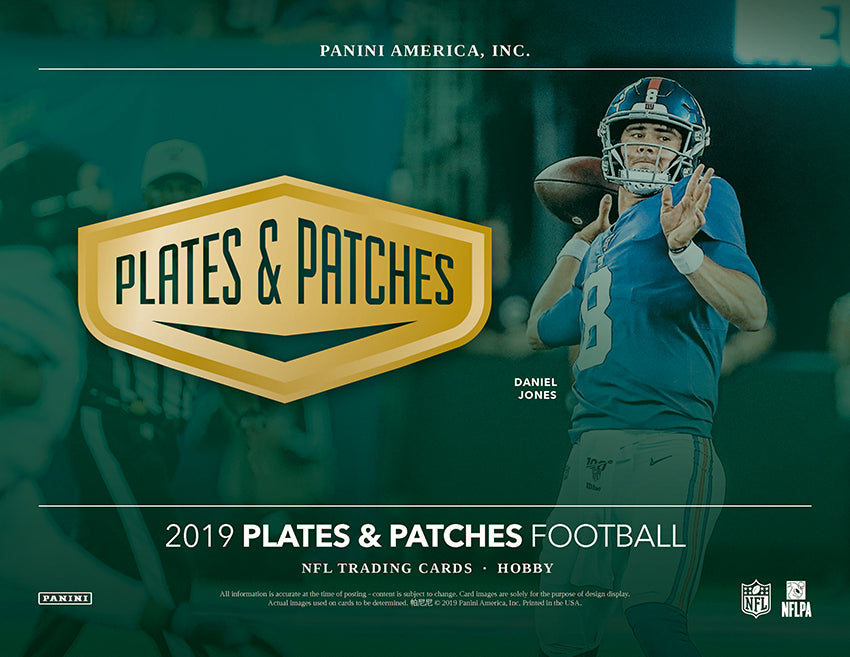 2019 Plates & Patches Football First Look!