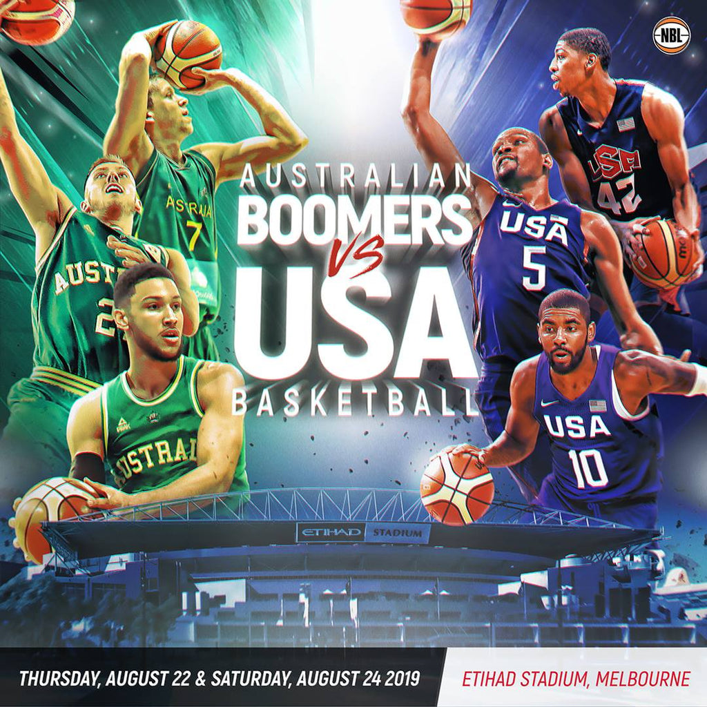 Australian Boomers VS Team USA In Melbourne August 2019 – Cherry Collectables