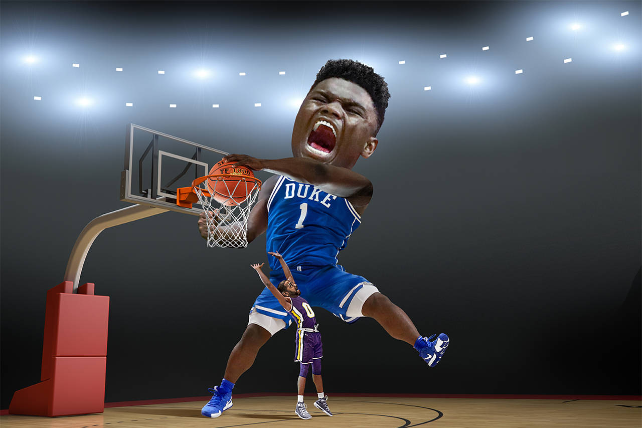 Zion Williamson Signs Cards With Panini!