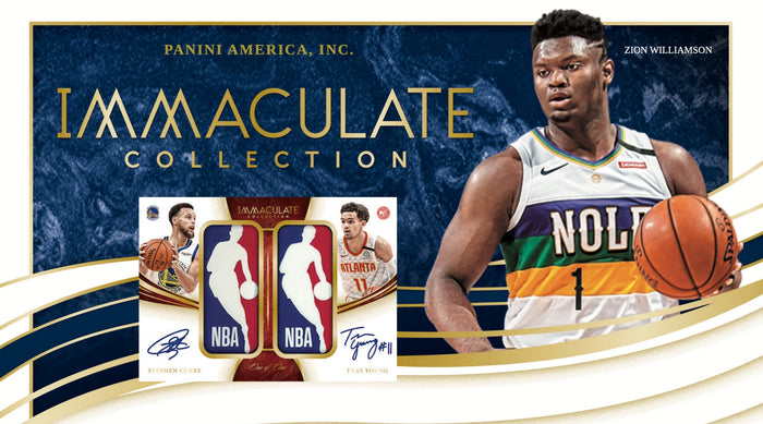 2019-20 Panini Immaculate Collection Basketball Adds Dual Logo Man!