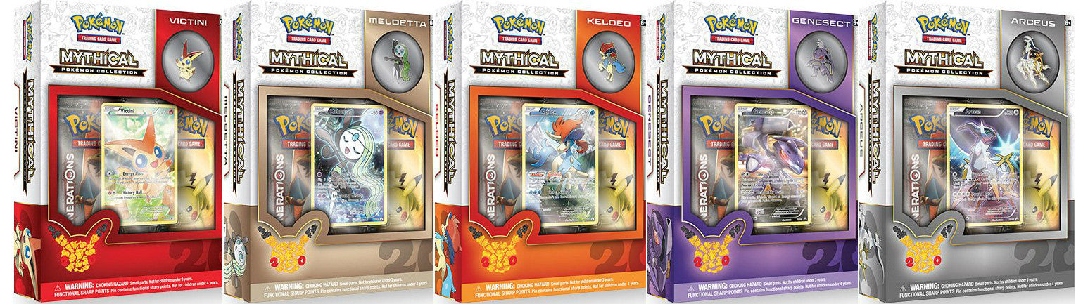 New Pokemon Mythical Creatures Collections Revealed!