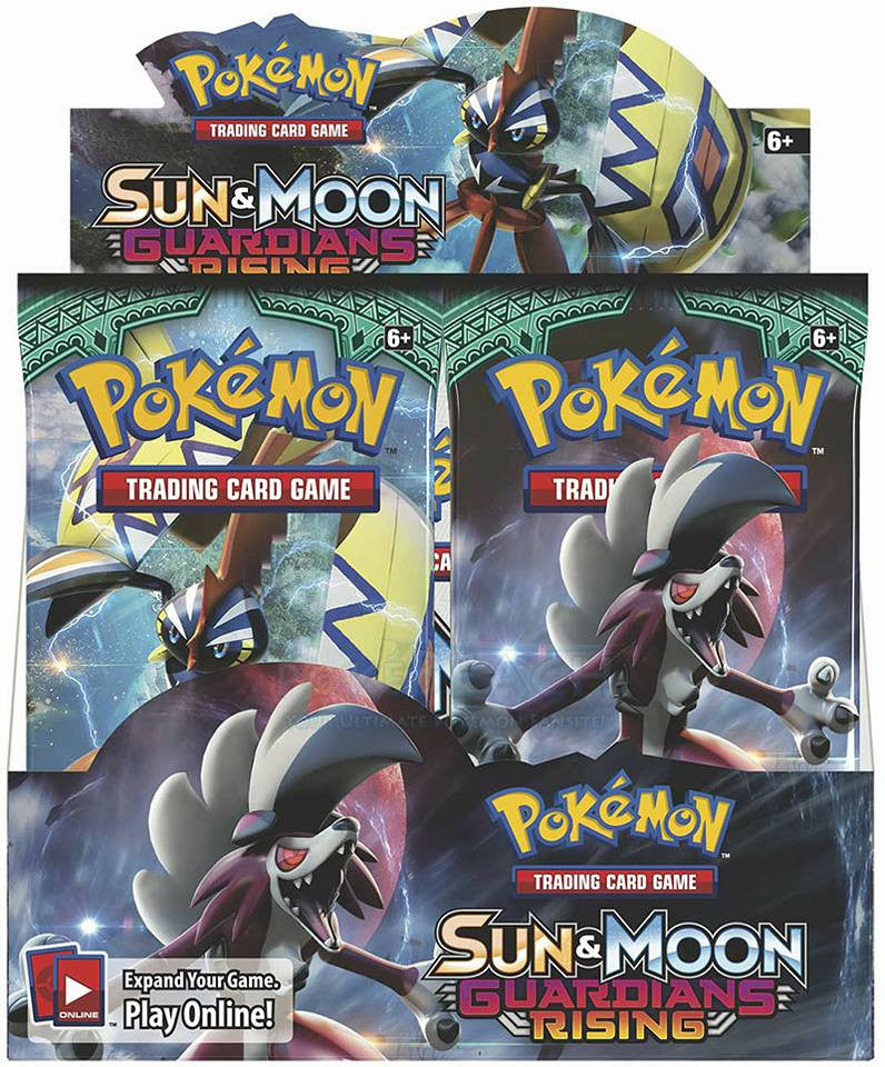 Pokemon Guardians Rising Booster Box and Pack art Revealed!