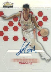 2002-03 Finest Yao Ming RC #169 Autograph #/999