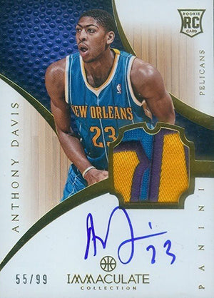 2012-13 Panini Immaculate Anthony Davis RC #134 Autographed Patch #/99