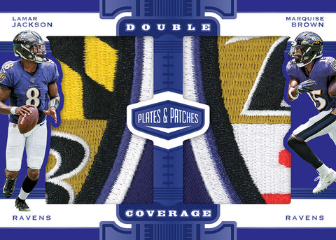 2019 plates and patches football dual patch